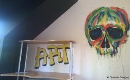 Grafitti style skull