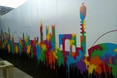 London skyline mural