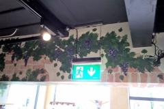 Wine bar mural