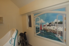 Care home bathroom mural