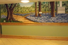 Bluebell wood mural