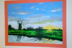 Mural of Norfolk broads