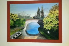 Water Eaton canal bridge mural