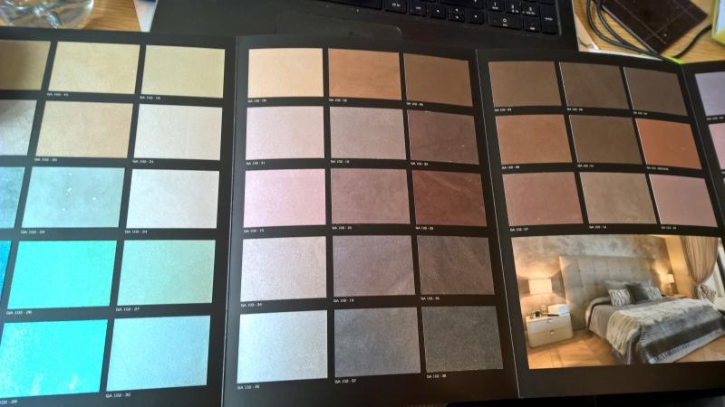 Colour chart for Arreghini Mineral Metallic paint