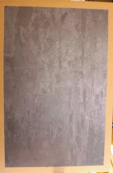 Painted concrete effect