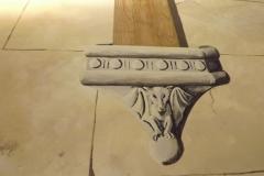 Painted stone corbel