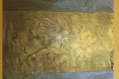 Gold irridescent wall finish
