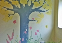 Woodland tree nursery mural