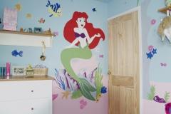 Ariel princess mural