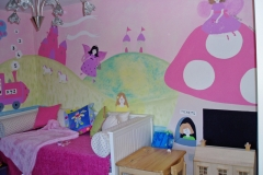 Girls fairy and unicorn mural