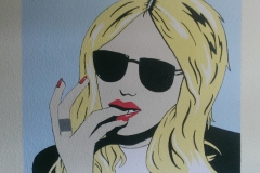 Pop art style teenage mural