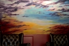 Clouded sunset room