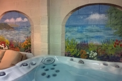 Jacuzzi room seaview mural