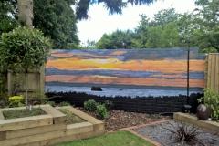 Southsea Sunset garden mural