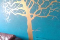 Metallic tree mural