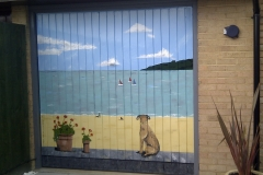 Seaside garage door