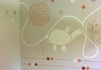 Mamas and papas inspired nursery mural