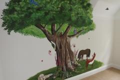 Tree nursery with animals