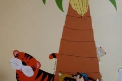 Jungle mural with tiger