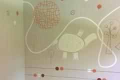 Mamas and papas inspired nursery mural