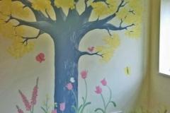 Woodland tree nursery mural