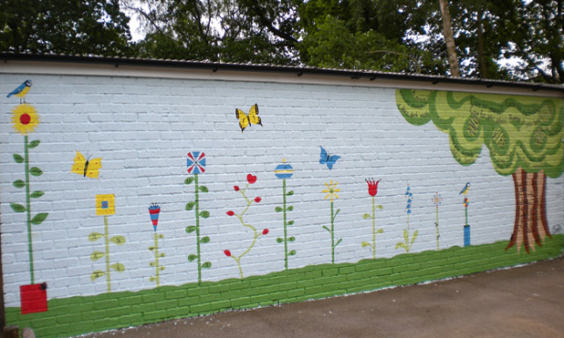 Educational murals for schools and day nurseries for Butterfly mural ideas