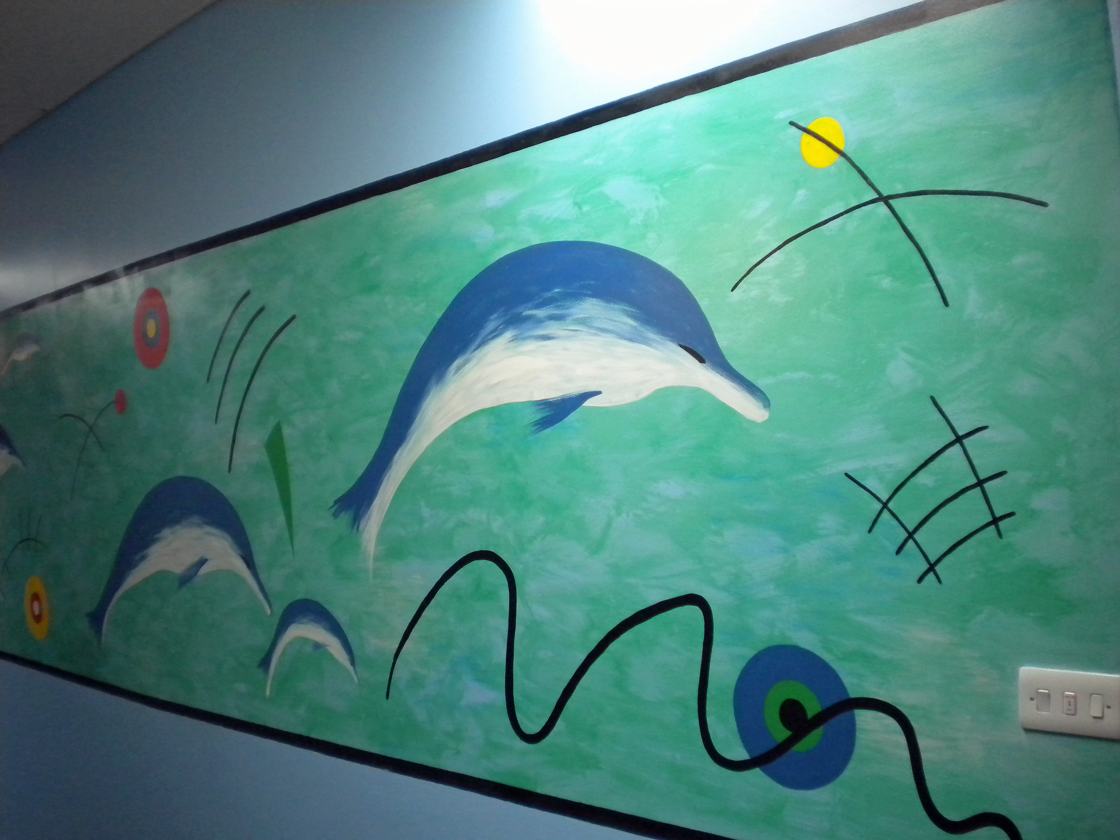 Educational murals for schools and day nurseries for Dolphin wall mural