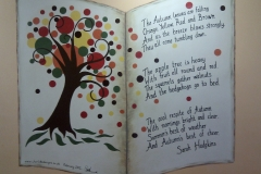 Autumn story book mural