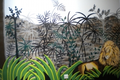 Rousseau style jungle mural