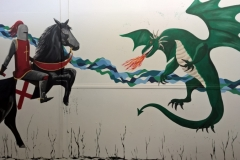 George and the Dragon mural