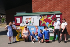 Comic book esafety mural