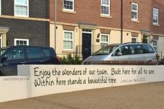 Poem mural