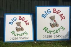 Signs for Big Bear Nursery