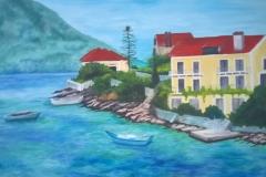 Greek scene canvas