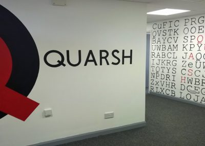 recruitment company branding mural