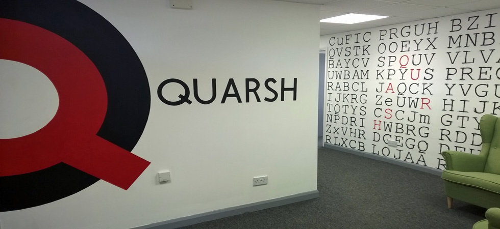 recruitment company branding mural