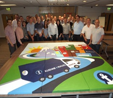 Mural workshop for logistics company