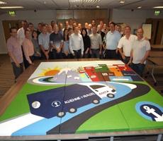 Mural workshop for logistics company