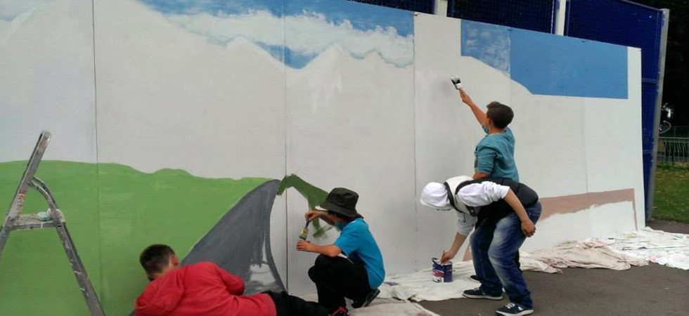 mural painting workshop for young people