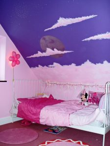Perfect room for girls who like to sleep in the clouds