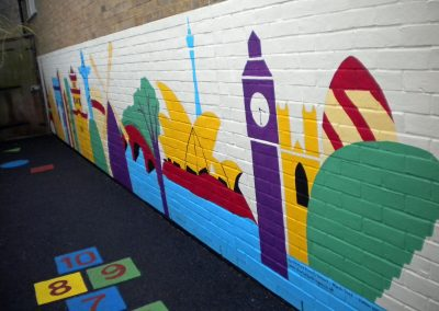 olympic host city mural