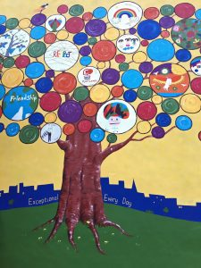 Collaborative art mural for South London School playground