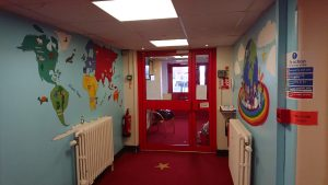 Murals at infant school peterborough