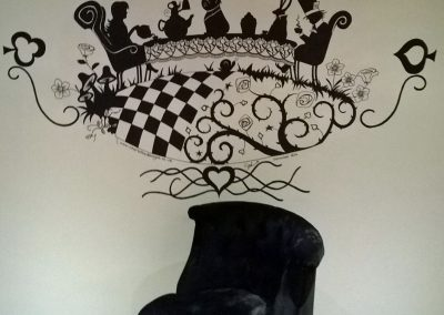 Image of alice in wonderland mural