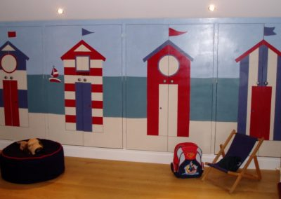 Image of beach hut mural