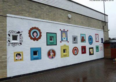 Image of book character art gallery mural