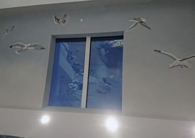 conservatory ceiling with gulls