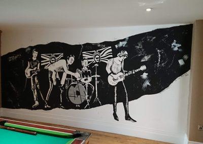 sex pistols mural