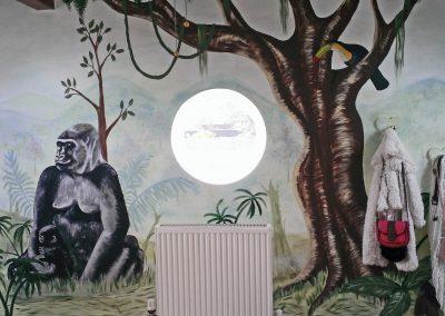 Image of gorilla mural