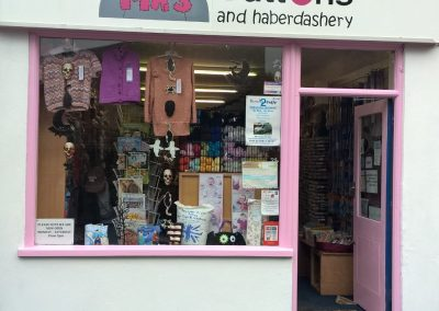haberdashery hand painted sign